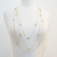 Classic Eye-See-You Tri-Layered Necklace
