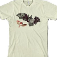 Bat & Robin-Unisex Natural T-Shirt