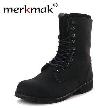 New 2017 men's fashion ankle boots winter brand shoes