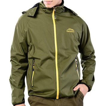 Plus Size Fall Thin Breathable Water Repellent Outdoor Jackets for Men