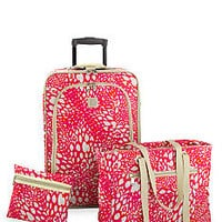 New Directions® 3-Piece Luggage Set- Pink Animal - Belk.com
