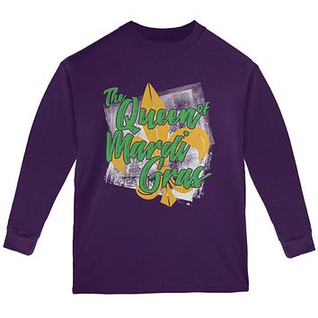 The Queen of Mardi Gras Youth Long Sleeve T Shirt