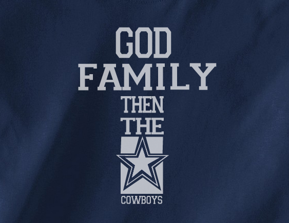 new arrival ab866 1543f Navy Custom 1 Color God Family then the Dallas Cowboys Football Tee Tshirt  T-Shirt