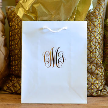 Personalized Script Monogram Hotel Wedding Welcome Bags - Set of 35