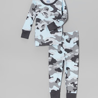Blue Camo Pajama Set - Infant & Toddler | something special every day
