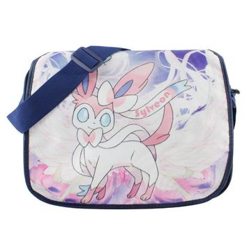 Anime Pikachu Sylveon Colorful Polyester School Bag/Shoulder Bag/Messenger Bag
