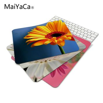 gerbera daisies flowers New Arrivals Mouse Pad Computer Gaming Mouse Pads 180mmX220mmx2mm