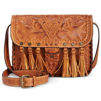 Patricia Nash Burnished Tooled Arno Flap Crossbody | macys.com