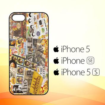 THE BEATLES COLLAGE V0883  iPhone 5|5S|SE Case