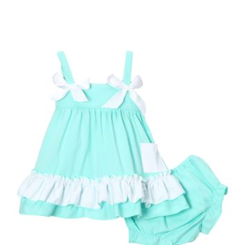 Tiffany Blue Swing Top & Diaper Cover Set