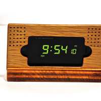 "The ""Notched Art Clock Dock"" alarm clock styled iPhone docking stand"