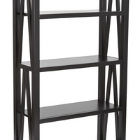 Office Star Black Santa Cruz 5 Shelf Book Case