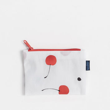 Small Flat Zip Pouch Cherry