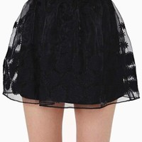 Daisy Chaser Skirt - Black