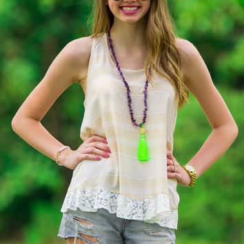 SALE-Cute And Frilly Top-Beige