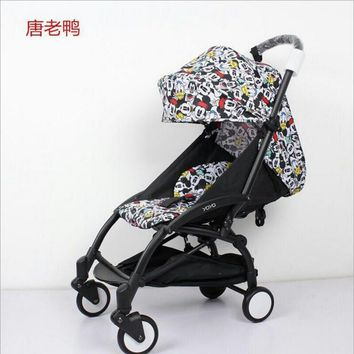 Baby stroller accessories 175 degree Updated Yoya babyyoya Strollers Hood And Mattress Sun Cover and Seat Cushion Set