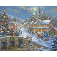 Sunsout Merry Christmas 1000 Piece Jigsaw Puzzle