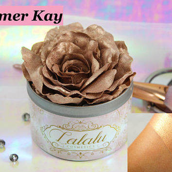 Bronze Makeup Highlighter, Vegan Makeup, Vegan Highlighter, cruelty free makeup , Mineral Makeup, bridesmaid gift, gift for her