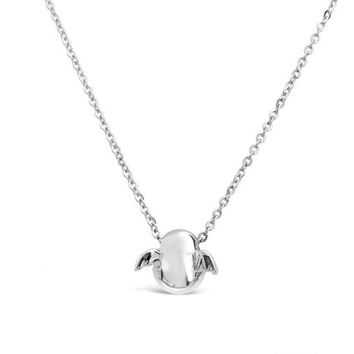 Sterling Silver Angel Pendant - Angel Wing Necklace Pendant - Baby Angle Charm - Silver Angel Jewelry Charm - Guardian Angel Wing Pendant