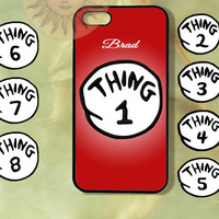 Customized Thing 1 Case-iPhone 5, iphone 4s, iphone 4 case, Samsung GS3-Silicone Rubber or Hard Plastic Case, Phone cover