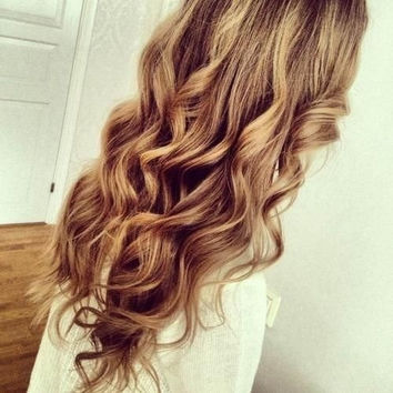 Light Brown with Blonde Highlights Clip In Hair Extensions - 100% Human Hair - 150g