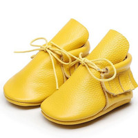 Lemon Drop- Single Fringe Baby Booties