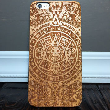 Custom Engraved Mayan calendar iPhone 6 Plus Case