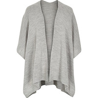 River Island MensGrey knitted cape