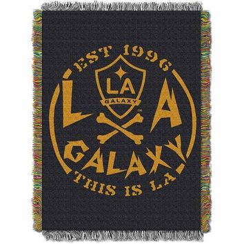 "Los Angeles Galaxy MLS Woven Tapestry Throw Blanket (48x60"")"""