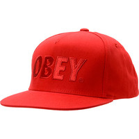 Obey The City Red Snapback Hat