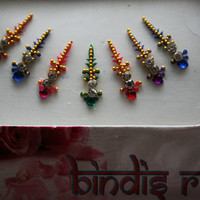 Lush Forehead Adhesive Bindi Make up Jewelry Online Etsy Sale.