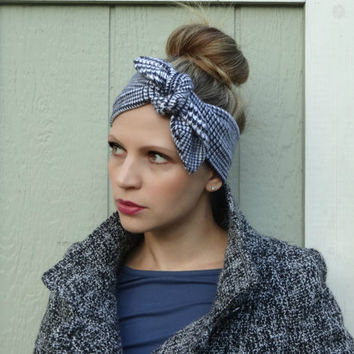 Cozy plaid head wrap,ear warmer,winter accessory