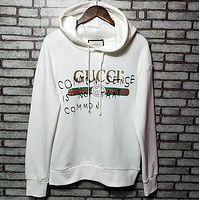 '' GUCCI '' Women Hooded Fashion Long Sleeve Top Sweater Hoodie Sweatshirt