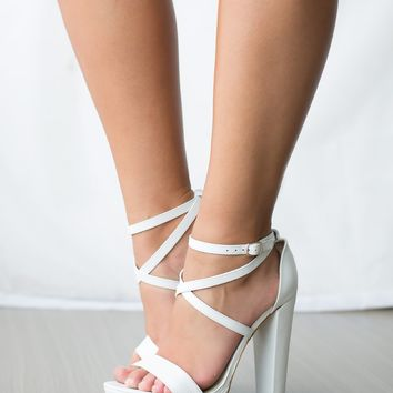 Windsor Smith Mariah Heels White