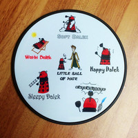 Dr Who NEW DESIGN Dalek Sofy Kitty Coaster in Red, Blue or Gold