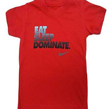 Nike Toddler Boys Cool Jersey T-Shirt Top (3-6 Months, Red)