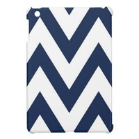 Navy Chevron iPad Mini Cases from Zazzle.com