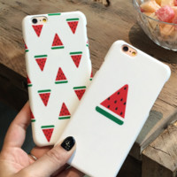 New Fashion design print watermelon Plastic Case Cover iPhone7 7plus 6 Plus 6-05005