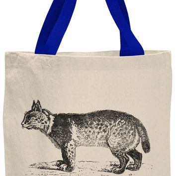 Austin Ink Apparel American Bobcat Contrast Cotton Canvas Tote Bag