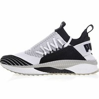 "PUMA TSUGI JUN Cubism Running Shoes ""Gray&Black&White""365490-02"