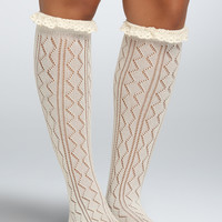 Knee-High Crochet Socks