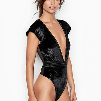 Shine Velvet Plunge Teddy - Very Sexy - Victoria's Secret