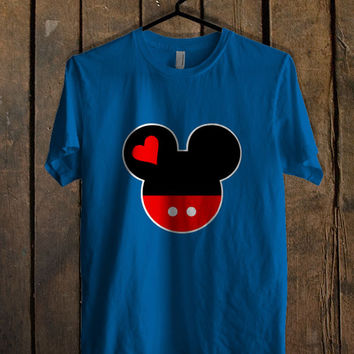 Mickey and Minnie Disney Matching A Blue Mens T Shirt **
