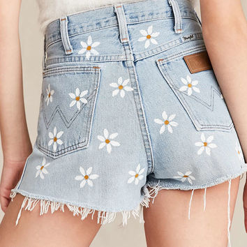 UO Design X Urban Renewal Vintage Wrangler Painted Daisies Short - Urban Outfitters