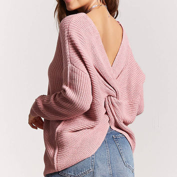 Twisted-Hem Sweater