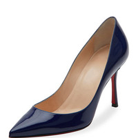 Christian Louboutin Decoltish Patent 85mm Red Sole Pump, Black