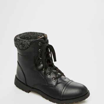 Black Knit Collar Hiking Boot | Hiking Boots | rue21
