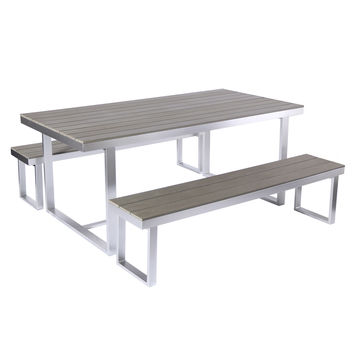 All-Weather 3-Piece Dining Set - Grey