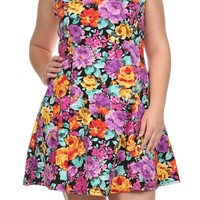 Plus Size Summer Floral Dress