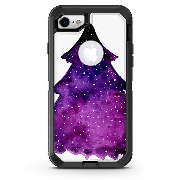 Purple Watercolor Evergreen Tree - iPhone 7 or 8 OtterBox Case & Skin Kits